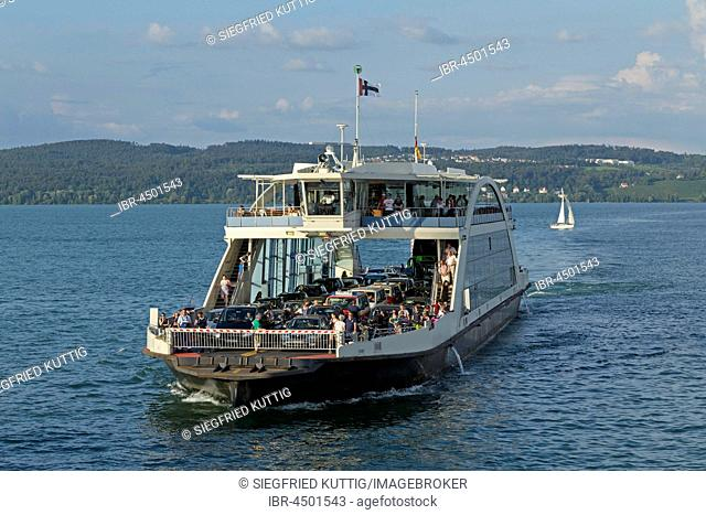 Car ferry, Constance, Lake Constance, Baden-Württemberg, Germany