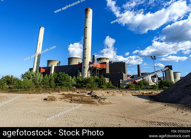 Weisweiler, Germany. The brauncoal fuelled Kraftwerk Weisweiler Electrical Powerplant is still in active production and being fuelled by it's own brown coal...