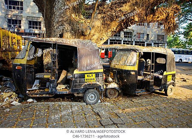 Rickshaw, Fort Cochin, Kochi, Cochin, Kerala, India