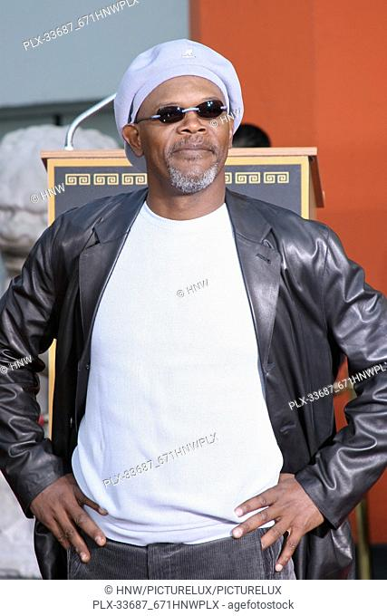 Samuel L. Jackson 01/30/2006 Samuel L. Jackson to be honored at Mann's Chinese Theater at a hand and footprint ceremony @ Mann's Chinese THeater