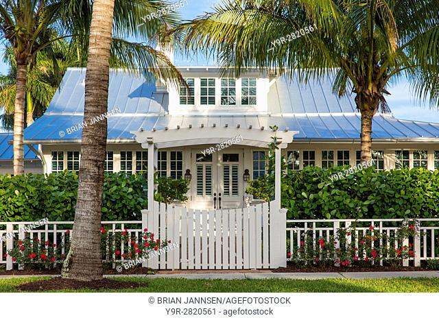 Historic 'Bones Cottage' b. 1921, Naples, Florida, USA