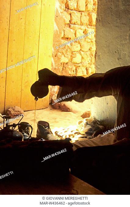 rito del the, tamanrasset, deserto del sahara, algeria, africa