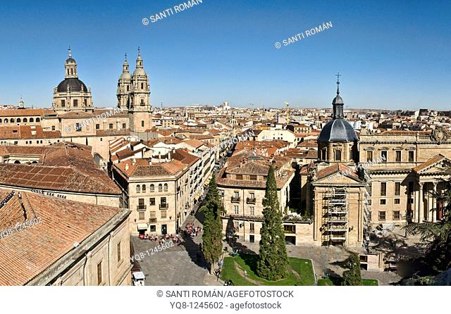 Panoramic view from the terrace of the cathedral Salamanca Castile Leon Spain