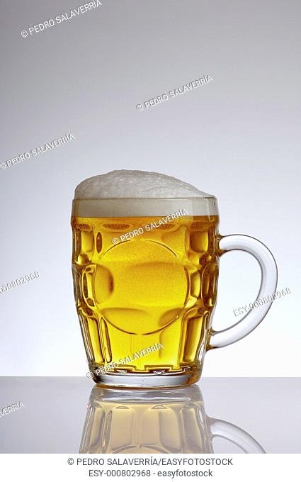 beer mug with a white background