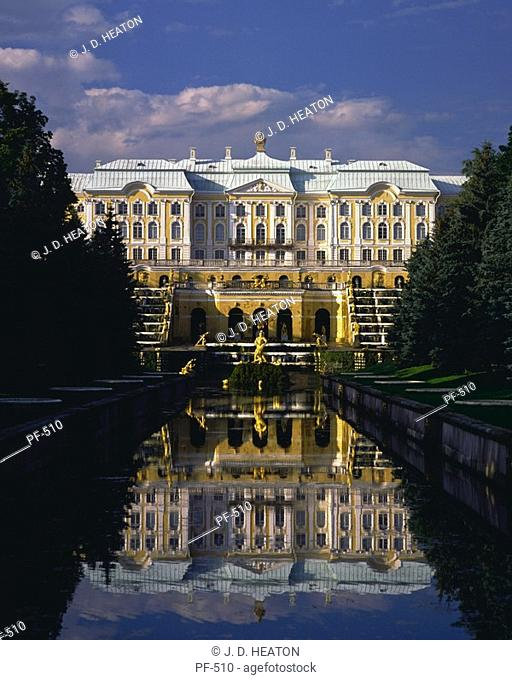 Russian federation. St. Petersburg. Petrodvorest palace