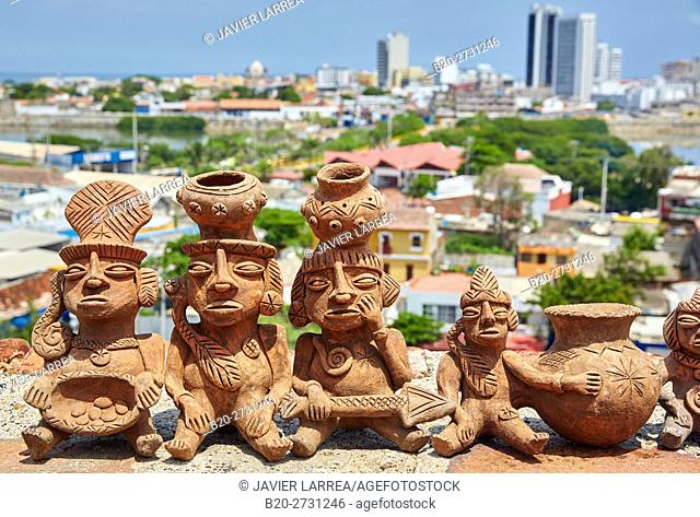 Handicraft, Castillo de San Felipe de Barajas, Cartagena de Indias, Bolivar, Colombia, South America