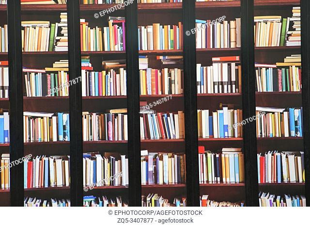 Book shelf, Melbourne Star, Dockland, Melbourne in Australia