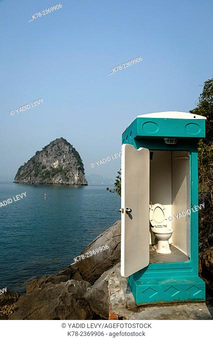 Public toilet, Halong Bay, Vietnam