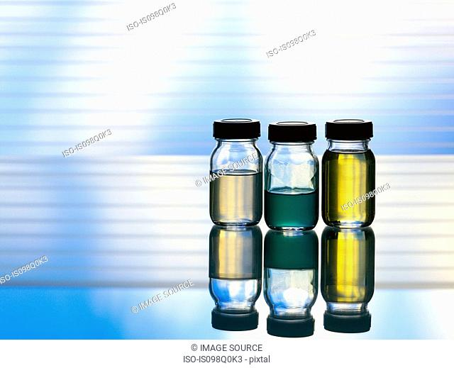 Bottles of aromatherapy oil