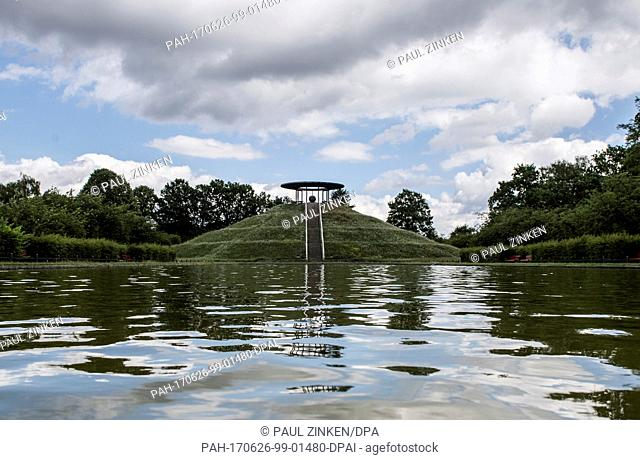 View of the Otto Lilienthal monument on Fliegeberg hill in the Lilienthalpark in the district of Lichterfelde in Berlin, Germany, 26 June 2017