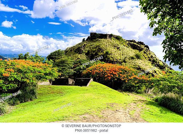 Fort Rodney, National Park of Pigeon Island, Rodney Bay, Sainte-Lucia, West Indies
