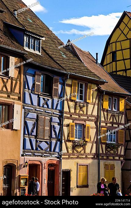 Klein Venedig, Petit Venise, Fachwerkhäuser, Colmar, Elsaß, Frankreich, | Little Venecia, Colmar, Alsace, France