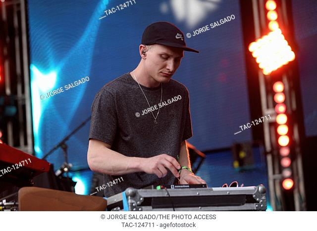 George Reid of Alunageorge performs at Neon Desert Music Festival on May 29, 2016 in El Paso, Texas
