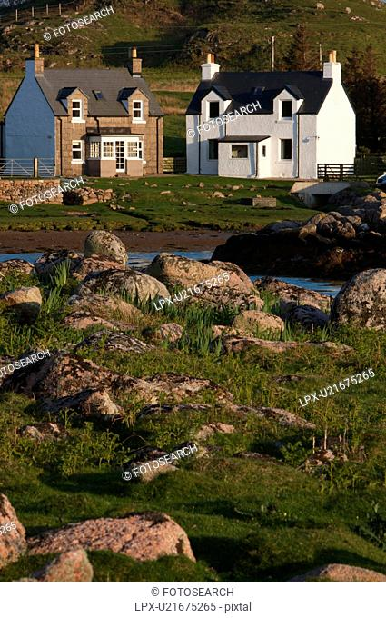 Harbour, Pennan, Scotland, UK, Stock Photo, Picture And