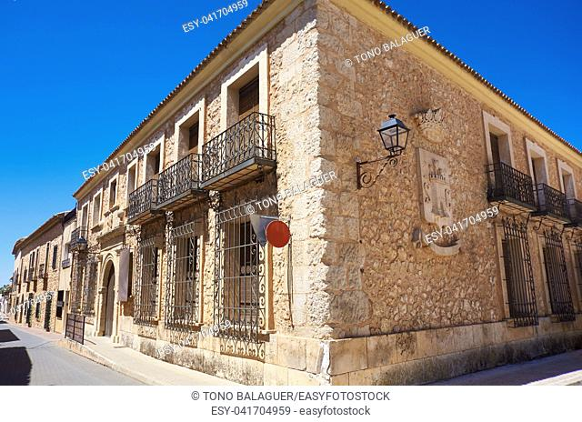 San Clemente village in Cuenca at Castile La Mancha by Saint James Way of levante