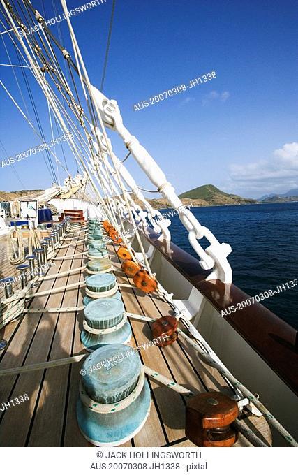 Rigging of a sailing ship