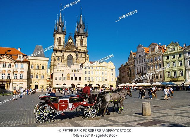 Old Town square in Prague Czech Republic Europe