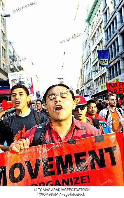 May Day 2013, International Worker's Day, New York City, Union Square vicinity, lower Manhattan, USA