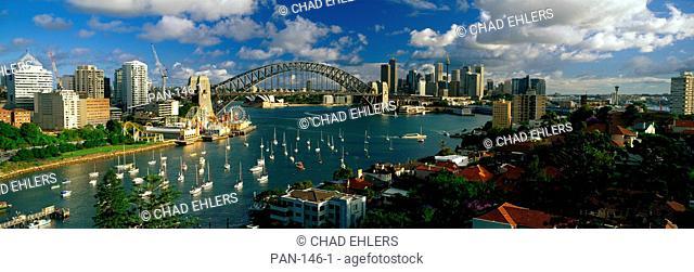 Harbor Bridge and Yachts, Sydney, Australia