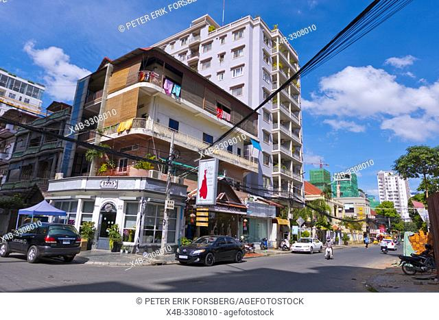 Corner of 322 street and 57 street, Boeung Keng Kang 1 area, Phnom Penh, Cambodia, Asia