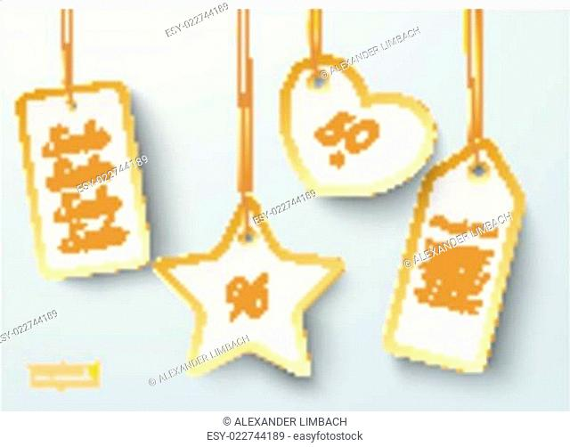 Golden Price Sticker Heart Star 2