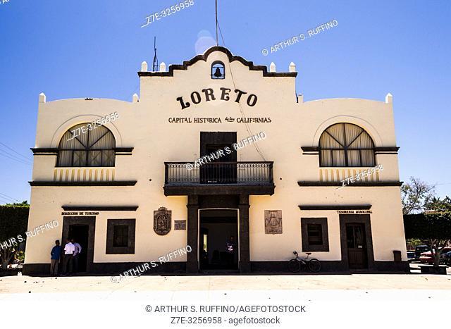 Loreto City Hall, Plaza Juárez. Loreto, UNESCO World Heritage Site, Baja California Sur, Mexico