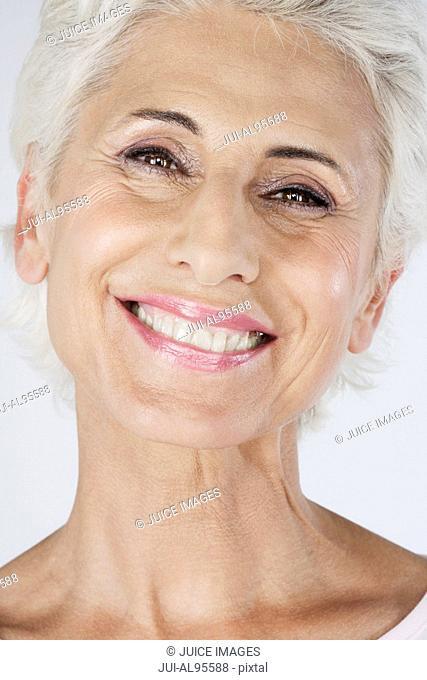 Close-up of happy senior woman, portrait