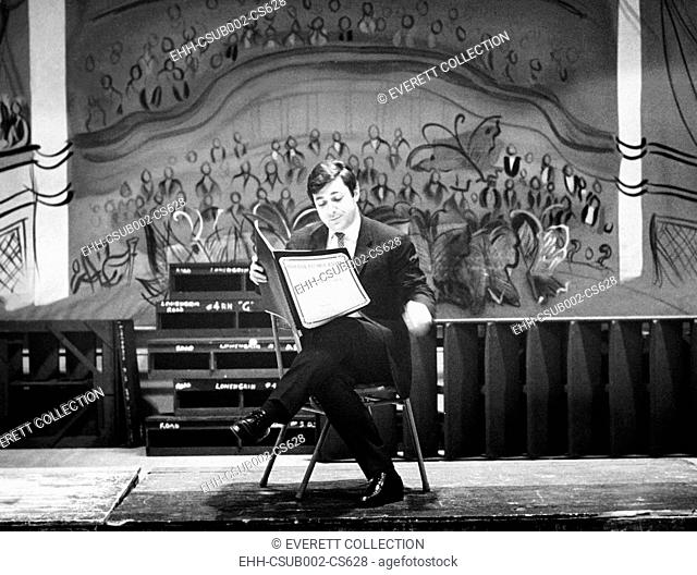 Composer Marvin David Levy making subtle changes of his score for MOURNING BECOMES ELECTRA. April 6, 1967. The opera had just premiered at the Metropolitan...