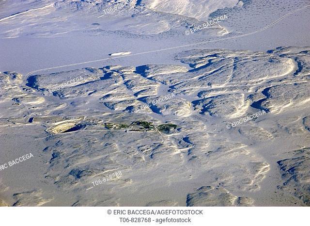 Diamond open-pit mining, aerial view, Carat Tahera, Northwest Territories, Canada