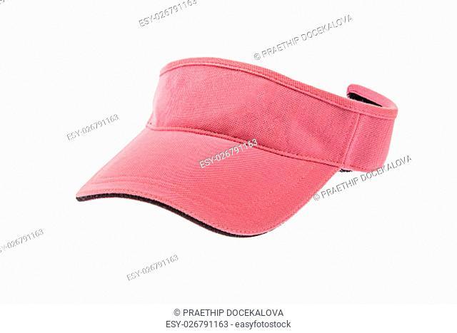 Adult pink golf visor on white background