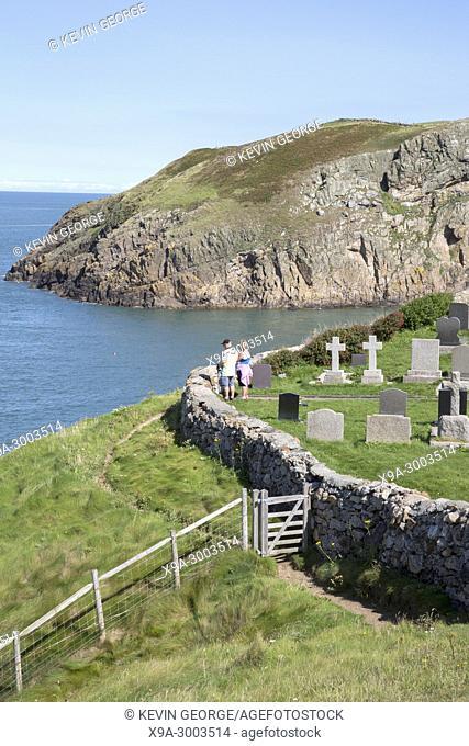 Graveyard at Llanbadrig Church; Cemaes; Anglesey; Wales; UK