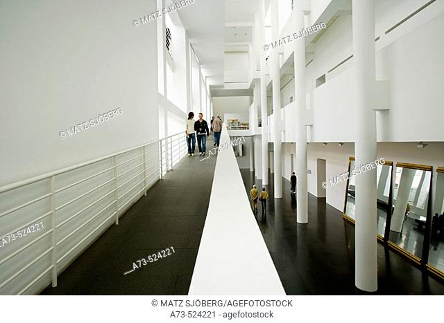 MACBA. Museum of Contemporary Art of Barcelona, the building by Richard Meier architect