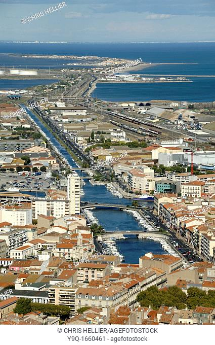 View over Sète and the Royal Canal from Mont St-Clair France