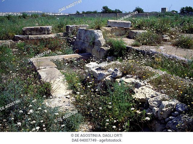 Ruins of a Phoenician-Punic tophet (sanctuary), Tas-Silg archaeological site, Malta