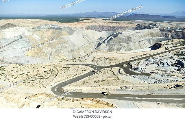 USA, Arizona, Aerial view of a working Gold Mine south of Tucson