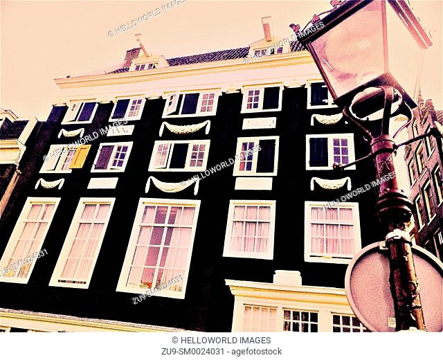Traditional Dutch architecture from 1652, Amsterdam, Netherlands