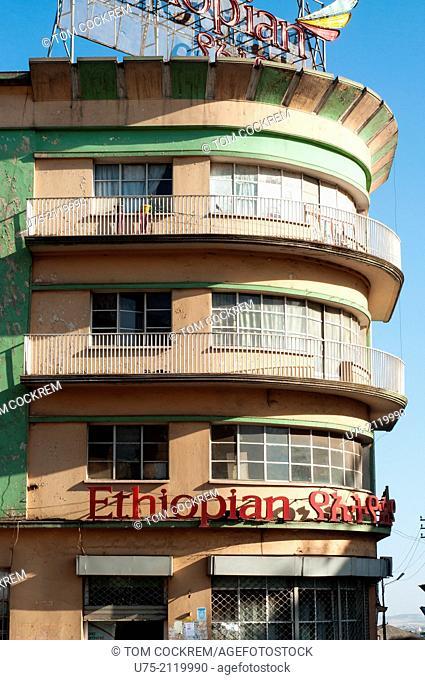 Ethiopian airlines office building, Piazza, Addis Ababa, Ethiopia