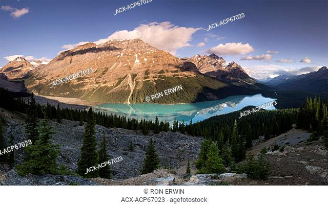 Peyto Lake, Banff National Park, Alberta, Canada (digitally spliced panorama)