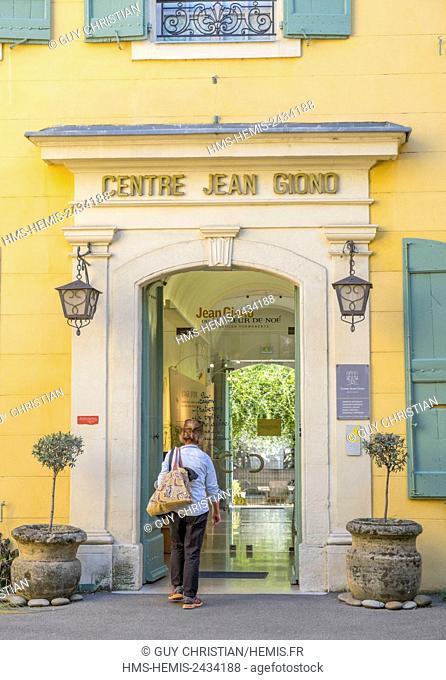 France, Alpes de Haute Provence, Manosque, mansion, late XVIIIth century, center Jean Giono (1895 1970), Luberon Regional Natural Park (Parc Naturel Regional du...