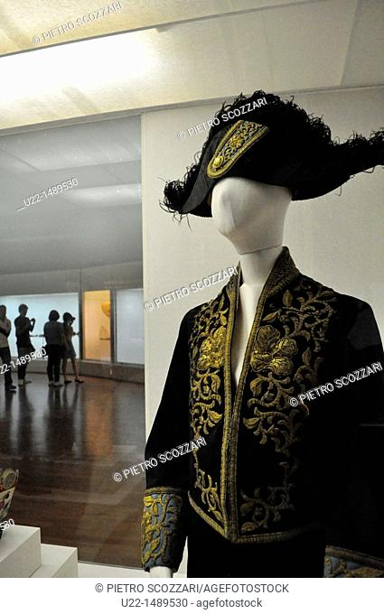 Seoul (South Korea): traditional outfit for noblemen at the National Folk Museum