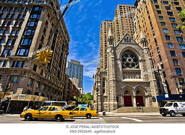 Holy Trinity Lutheran Church, W 65th Street, Central Park West, Manhattan, New York, New York City, United States, USA