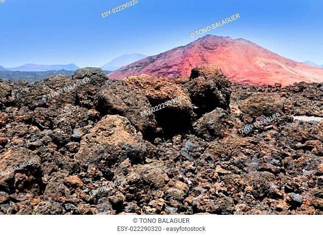 Lanzarote Montana Bermeja red mountain