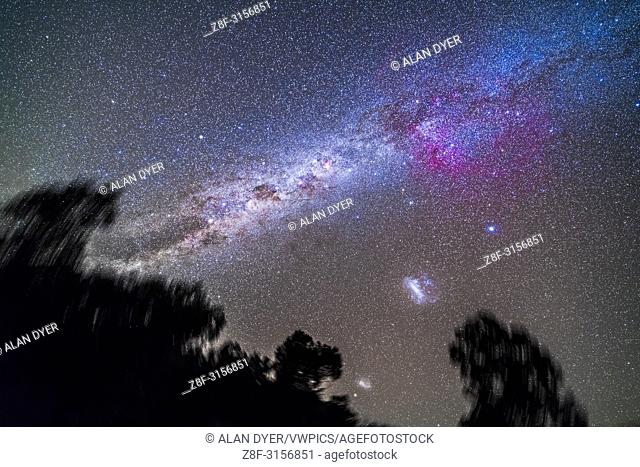 The Milky Way in the southern hemisphere sky from Vela at top right to Centaurus at bottom left. . . At left of centre is the huge Gum Nebula emission nebula...