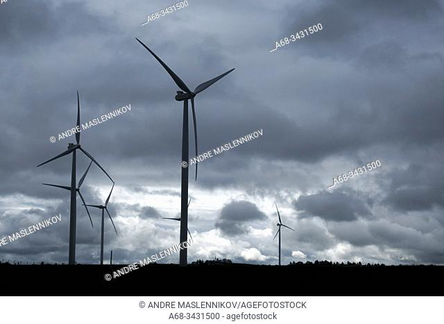 Wind power plant, France