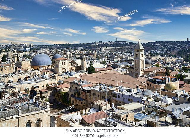 Jerusalem Israel. Scenic lookout on the old city