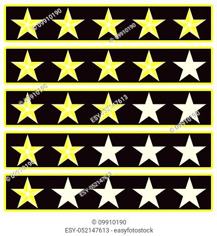 Elements star rank game interface. Ranking and rating icon, vector illustration
