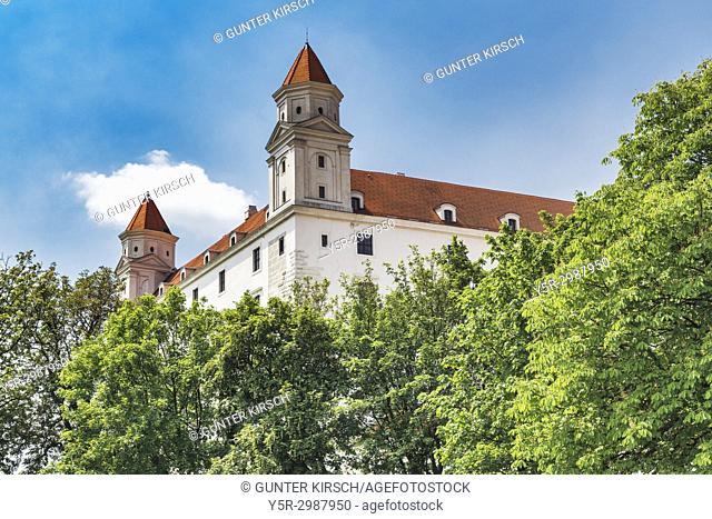 Bratislava castle is located in Bratislava, the capital of Slovakia in Europe