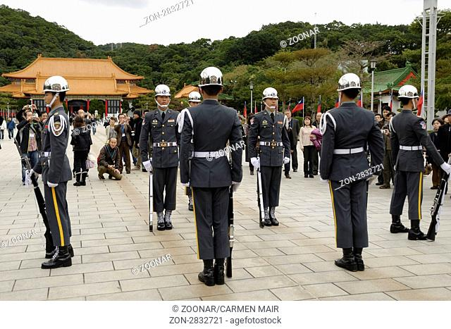Changing of the Guards, Martyrs Shrine, Taibei, Taiwan