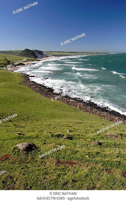 View of the coastline around Mazeppa Bay in the Eastern Cape Province of South Africa