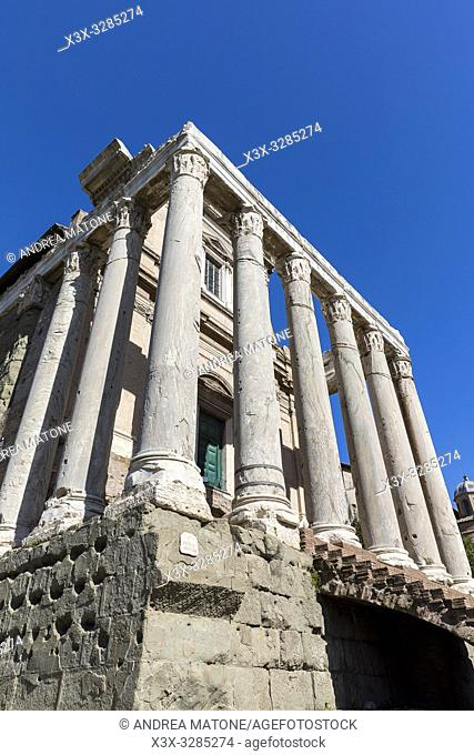 Temple of Antoninus and Faustina, Roman Forum, Rome, Italy